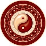 Yin Yang Composition. Yin Yang Symbol Rosette Composition Including Vector Format royalty free illustration