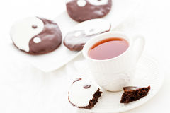 Yin and yang cookies Royalty Free Stock Photos