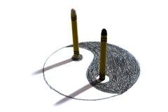 Yin Yang Crayon Stock Images