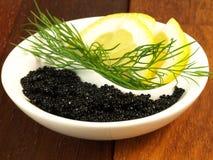 Yin yang de caviar Photo libre de droits