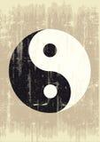 Yin yang del Grunge Fotografía de archivo