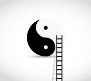 Yin yang destination ladder illustration Royalty Free Stock Images