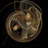 Yin yang di frattalo royalty illustrazione gratis
