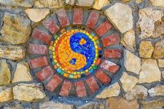 Yin yang di simbolo immagini stock libere da diritti