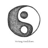 Yin yang. disegnato a mano.  Fotografia Stock Libera da Diritti