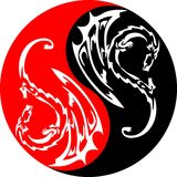 Yin yang dragons Royalty Free Stock Images