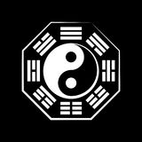 Yin & Yang (duality) and Bā-guà (the eight trigrams) Royalty Free Stock Photos