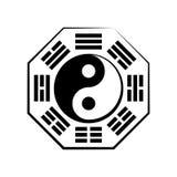 Yin & Yang (duality) and Bā-guà (the eight trigrams). Yin-Yang and Bā-guà (8 trigrams). The Chinese Stock Photo
