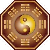Yin Yang e bagua ilustração stock