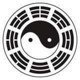 Yin Yang e Bagua Fotografia Stock