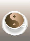 Yin Yang. Een kop van koffie. Royalty-vrije Stock Afbeeldingen
