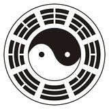 Yin Yang et Bagua Photo stock