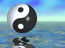 Yin Yang Fantasy Stock Photo