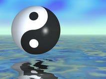 Yin Yang Fantasy. Gorgeous ying yang sphere in a fantasy setting Stock Photo