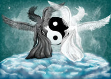 Yin and Yang fantasy Royalty Free Stock Photo
