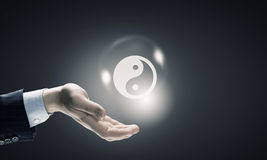 Yin yang filosofi royaltyfria bilder