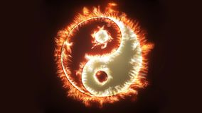 Yin and Yang on fire