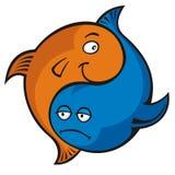 Yin yang fish vector illustration