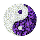 Yin Yang florale Photos stock