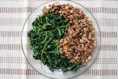 Yin Yang food Stock Image