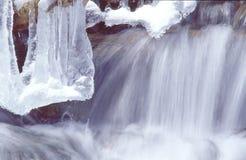 Yin - Yang: Gelo e wa de fluxo Fotos de Stock Royalty Free