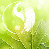 The yin and yang grass sign. With some soft spots and highlights Royalty Free Stock Photos