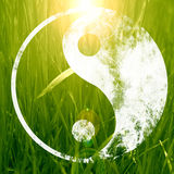 The yin and yang grass sign. With some soft spots and highlights Stock Images
