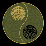 Yin-yang in green Royalty Free Stock Images
