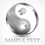 Yin yang grijs symbool Stock Foto's