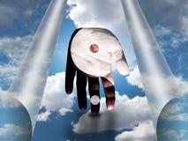Yin Yang Hand Fotografie Stock Libere da Diritti
