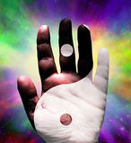 Yin Yang Hand Royalty Free Stock Photos