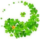 Yin and Yang harmony symbol made of clovers. Vector illustration Stock Photography