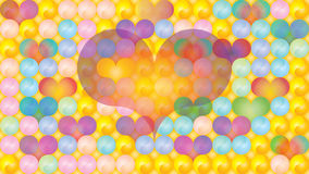 Yin Yang hearts dimensional pastels Royalty Free Stock Photo