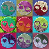 Yin yang hearts Royalty Free Stock Photo
