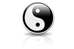 Yin Yang Icon. A shinny ying yang icon Vector Illustration