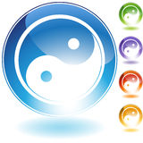 Yin Yang Icon. 3D Yin Yang Icon in multiple colors Royalty Free Stock Photography
