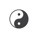 Yin and yang icon vector, filled flat sign, solid pictogram isolated on white. Taoism symbol, logo illustration. Pixel perfect Stock Images