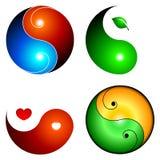 Yin yang icons. Vector illustration Royalty Free Stock Photo