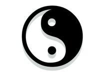Yin Yang Ikone. Stockbild