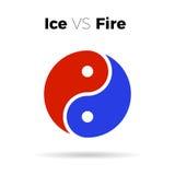 Yin Yang ikony harmonii wektorowy symbol Zdjęcie Royalty Free