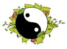 Yin yang illustration. Hand drawn Royalty Free Stock Image