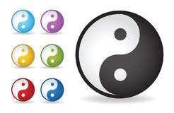 Yin yang. Ilustração do vetor Foto de Stock Royalty Free