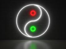 Yin Yang - insegne al neon di serie Immagini Stock