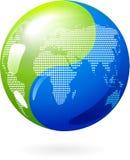Yin Yang jord - - ecoenergibegrepp Arkivfoto