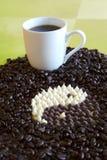 Yin Yang Kaffee Stockfotos
