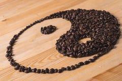 Yin yang kaffesammansättning fotografering för bildbyråer