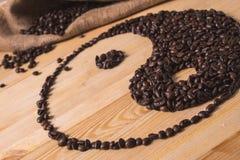 Yin yang kaffesammansättning arkivfoto