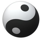Yin-Yang klumpa ihop sig Arkivfoton