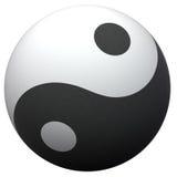 Yin-Yang Kugel Lizenzfreie Stockfotos