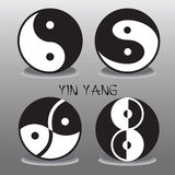 Yin yang logo. Vector illustration Stock Photos